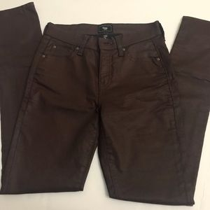 Gap brown satin skinny pants size 0/25   S